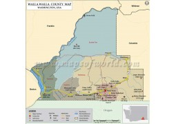 Walla Walla County Map, Washington - Digital File
