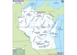 Wisconsin River Map
