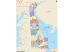 Delaware Zip Code Map - Digital File
