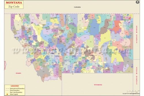 Montana Zip Code Map