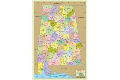 Alabama Zip Code Map With Counties