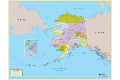 Alaska  Zip Code Map With Counties