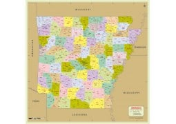 Arkansas Zip Code Map With Counties