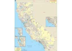 California Zip Code Map - Digital File