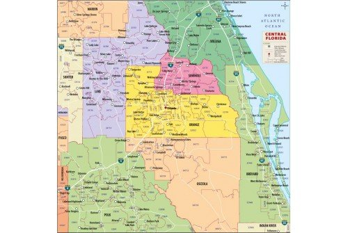 Central Florida Zip Code Map