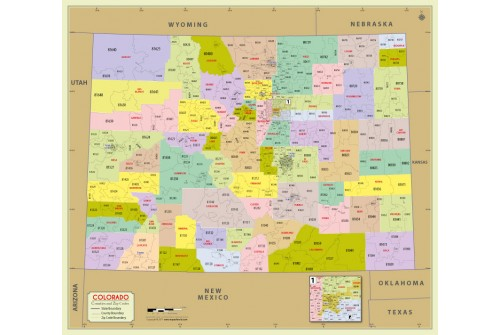 Colorado Zip Code Map With Counties