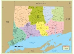 Connecticut Zip Code Map With Counties