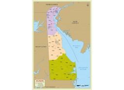 Delaware Zip Code Map With Counties