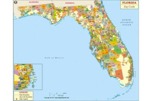 Florida Zip Codes Map