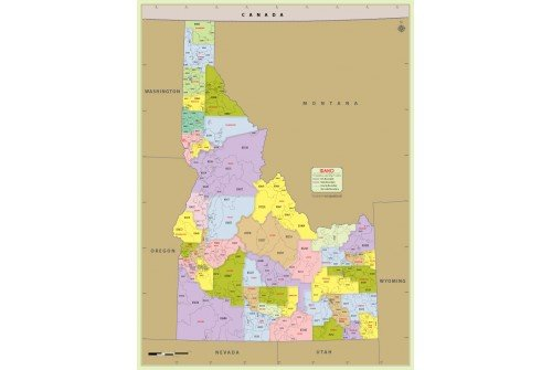 Idaho Zip Code Map With Counties