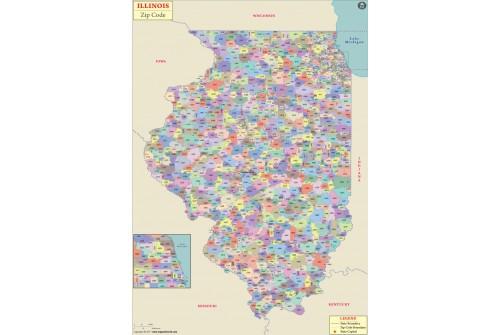 Illinois Zip Code Map