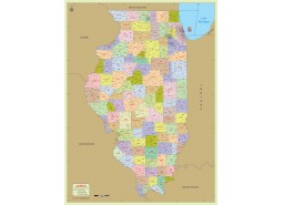 Illinois Zip Code Map With Counties