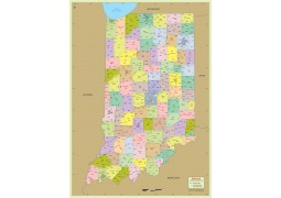 Indiana Zip Code Map With Counties