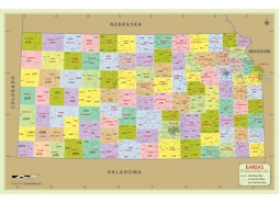 Kansas Zip Code Map With Counties