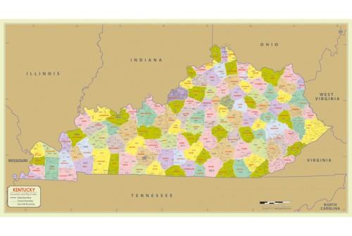 Kentucky Zip Code Map With Counties