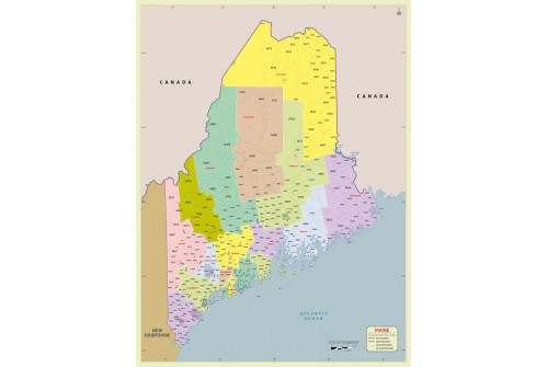 Maine Zip Code Map With Counties
