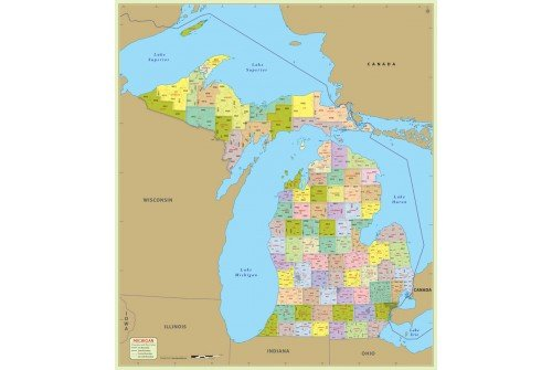 Michigan Zip Code Map With Counties