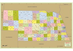 Nebraska Zip Code Map With Counties