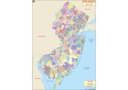 New Jersey Zip Code Map - Digital File