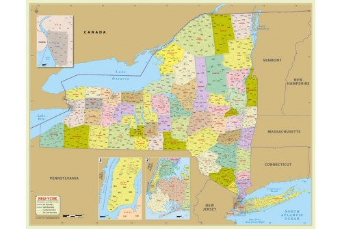 New York Zip Code Map With Counties