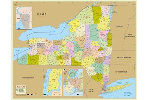 New York Zip Code Map With Counties
