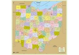 Ohio Zip Code Map With Counties