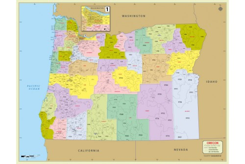 Oregon Zip Code Map With Counties