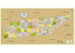 Tennessee Zip Code Map With Counties