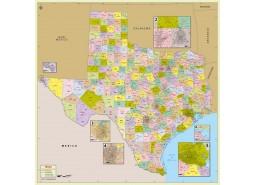 Texas Zip Code Map With Counties