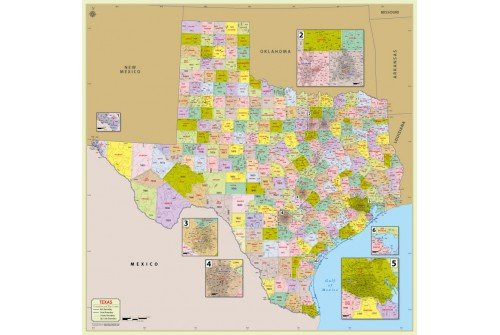 Texas Zip Code Map With Counties