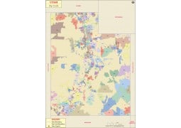 Utah Zip Code Map - Digital File