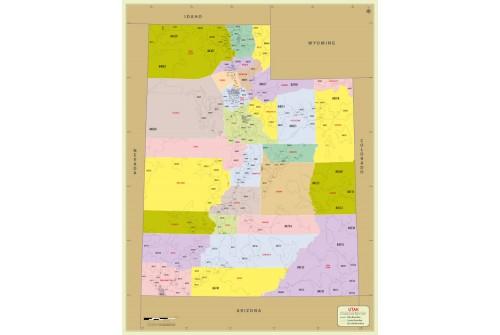 Utah Zip Code Map With Counties