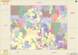 Wyoming Zip Codes Map - Digital File