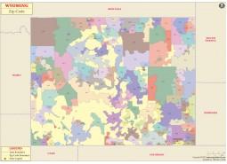 Wyoming Zip Codes Map