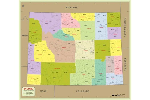 Wyoming Zip Code Map With Counties
