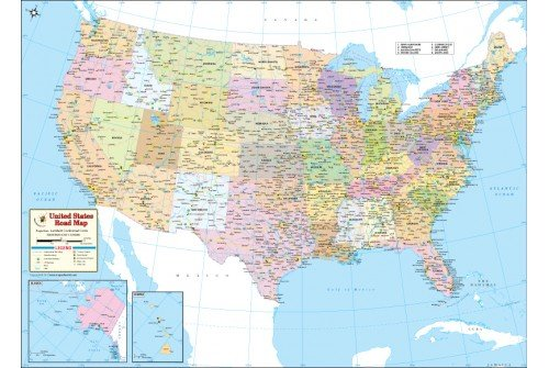 Buy Road Map of USA | US Interstate Highway Map