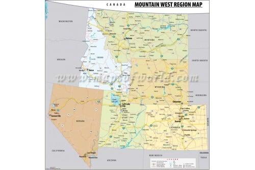 Mountain West Region Map