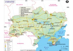Ukraine Map - Digital File