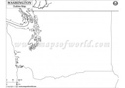 Washington Outline Map - Digital File