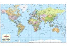 "World Map 2017 - Vinyl (52"" W x 30.89"" H)"