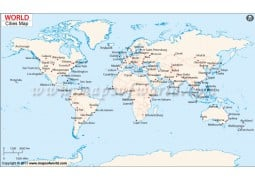 World Map with Cities