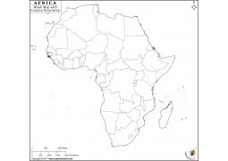 Africa Blank Map With Country Boundaries