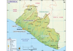 Liberia Map - Digital File
