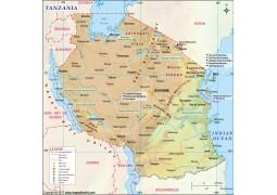 Tanzania Map - Digital File