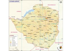 Zimbabwe Map - Digital File