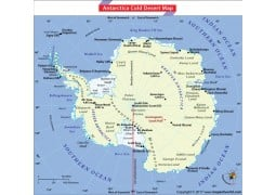 Antarctica Cold Desert Map