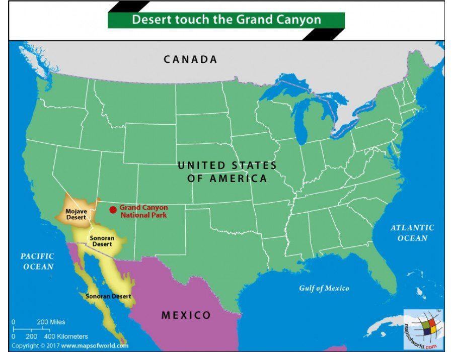 Buy Map Of Deserts Touchthe Grand Canyon