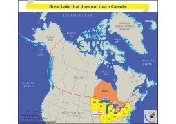 Great Lake That Does Not Touch Canada - Digital File