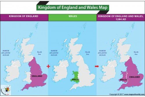 Kingdom of England and Wales Map