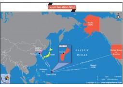 Location Map of Guam - Digital File